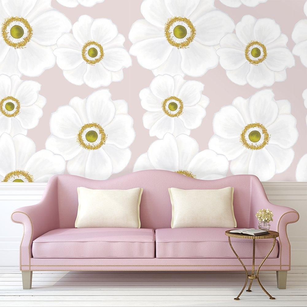 Andie | Daisy Florals | Removable Wallpaper | For Hacks & Doll Houses Wallpaper Blond + Noir