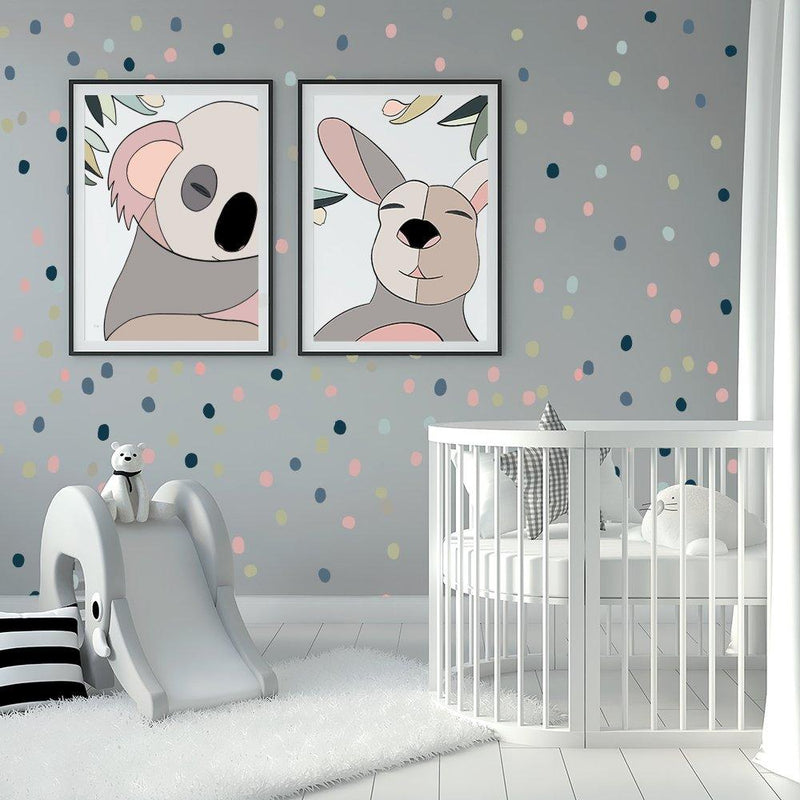 Animal Spots | Removable Fabric Wall Decals Wall Decals Blond + Noir