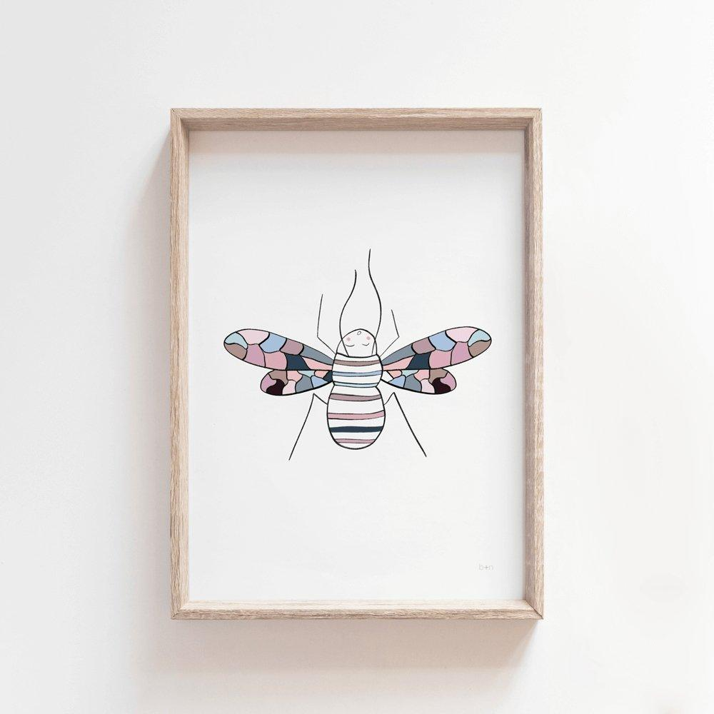 Bee | Kids Art Print Art Prints Blond + Noir