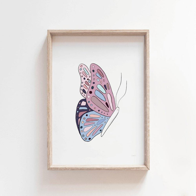 Bela Butterfly | Kids Art Print Art Prints Blond + Noir
