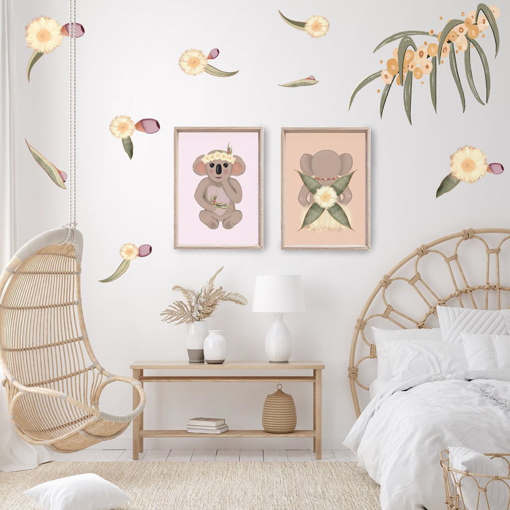 Blossom | Australian Wattle | Removable Fabric Wall Decals Wall Decals Blond + Noir