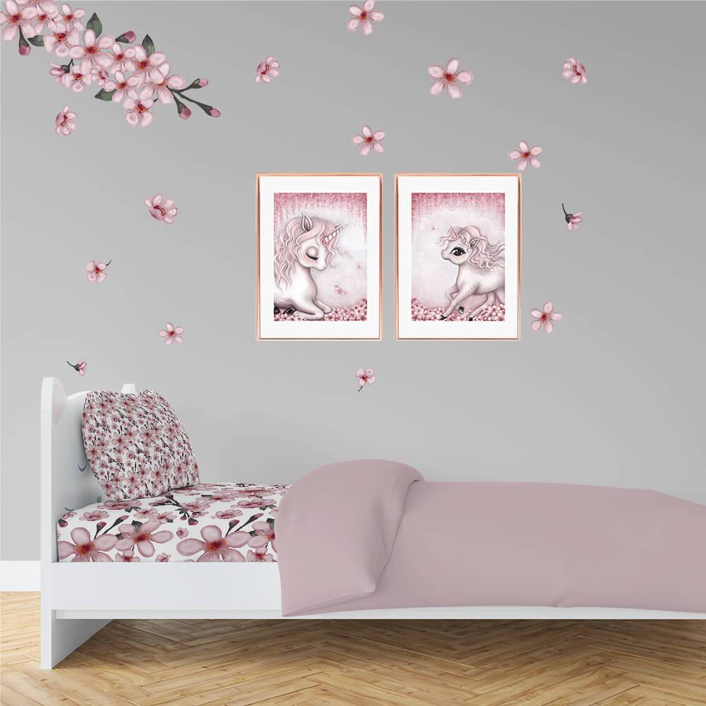 Cherry Blossom | Removable Fabric Wall Decals Wall Decals Blond + Noir