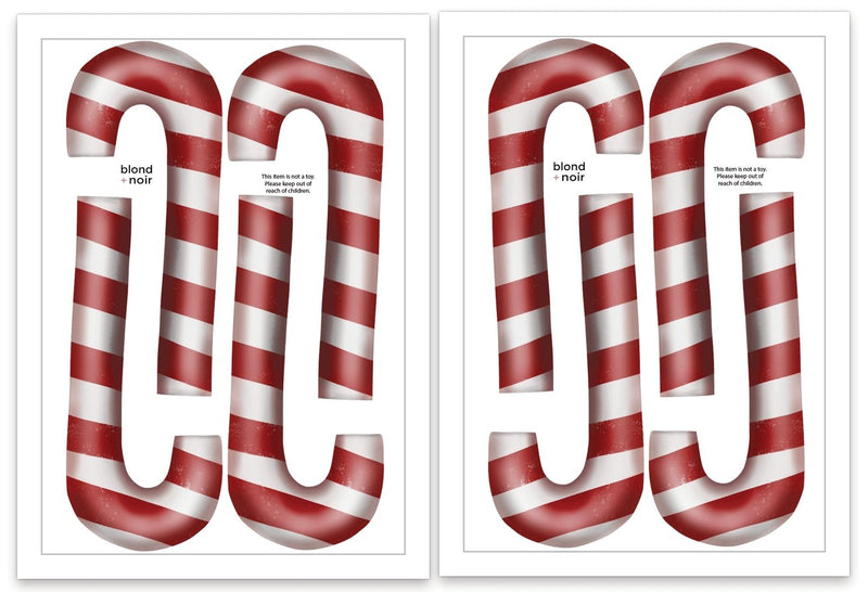 Christmas Candy Cane | Removable Fabric Wall Decals Wall Decals Blond + Noir