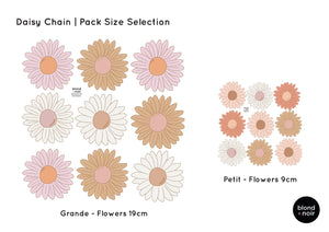 Daisy Chain | Removable Fabric Wall Decals Wall Decals Blond + Noir