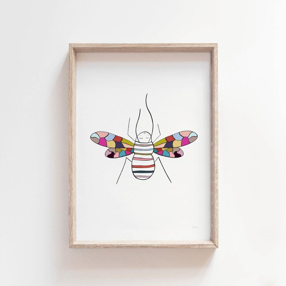 Dee Dee Bee | Kids Art Print Art Prints Blond + Noir