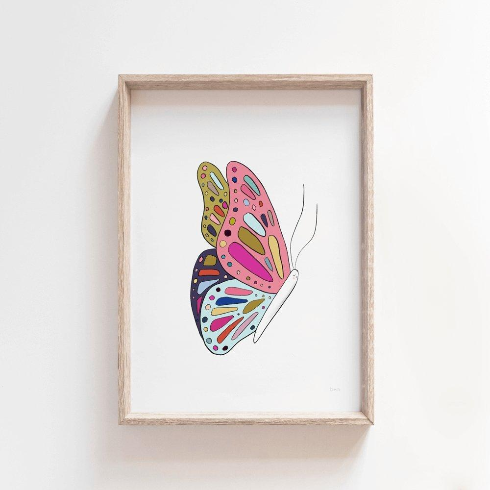 Dela Butterfly | Kids Art Print Art Prints Blond + Noir