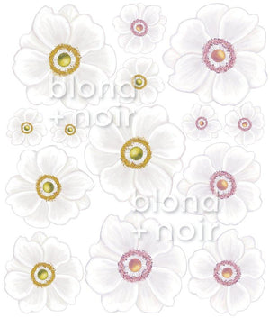 Dijon Daisies | Removable Fabric Wall Decals Wall Decals Blond + Noir