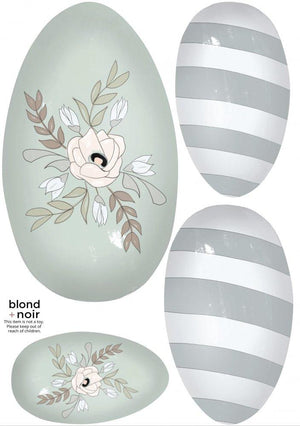 Easter Egg | Removable Fabric Wall Decals Wall Decals Blond + Noir