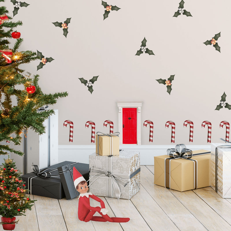 Elf Size Holly | Removable Fabric Wall Decals Wall Decals Blond + Noir