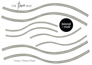 Flower Box | Medium Buildable Set | Removable Fabric Wall Decals Wall Decals Blond + Noir