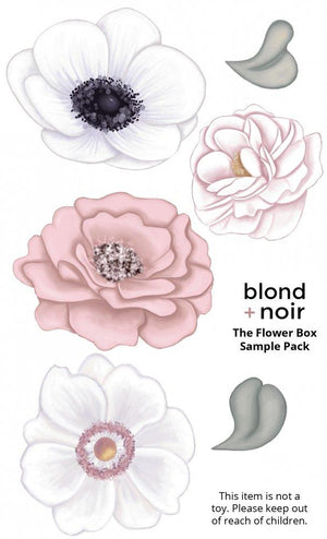 Flower Box | Samples | Removable Floral Wall Decals Wall Decals Blond + Noir