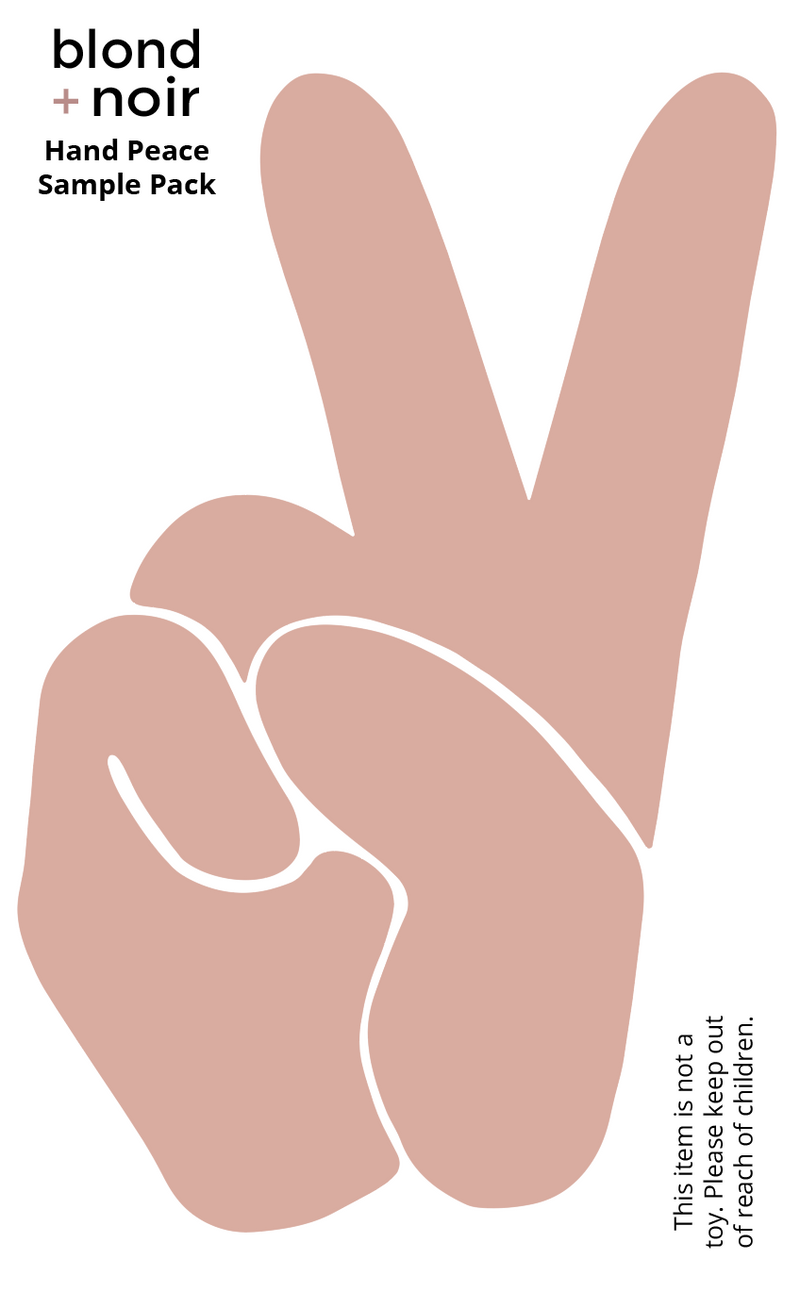 Hand Peace Sign | Removable Fabric Wall Decals Wall Decals Blond + Noir