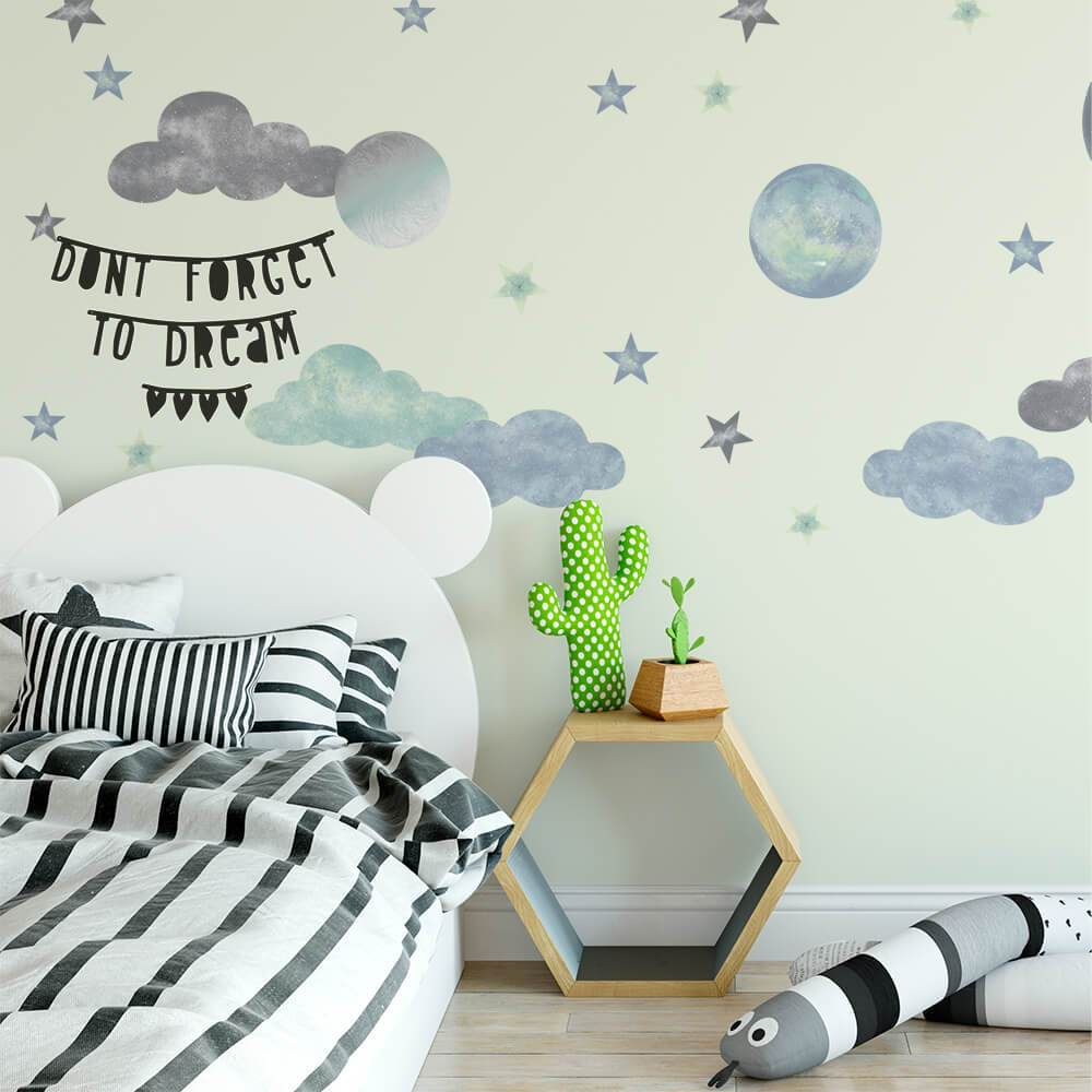 Interstellar | Removable Fabric Wall Decals Wall Decals Blond + Noir
