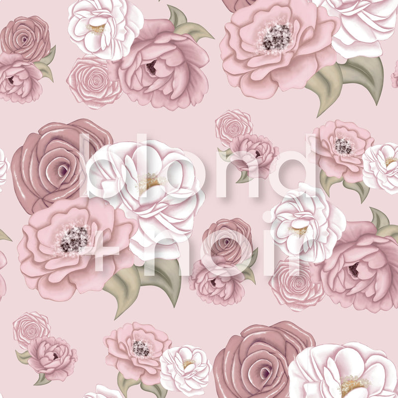 La Rochelle Florals | Removable Wallpaper | For Hacks & Doll Houses Wallpaper Blond + Noir