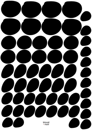Organic Spots | Removable Fabric Wall Decals Wall Decals Blond + Noir