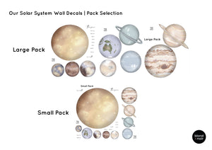 Our Solar System | Removable Fabric Wall Decals Wall Decals Blond + Noir