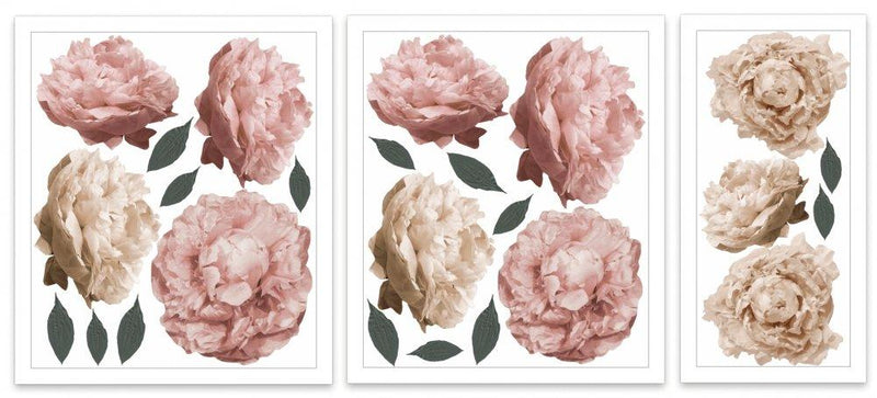 Peony | Removable Fabric Wall Decals Wall Decals Blond + Noir