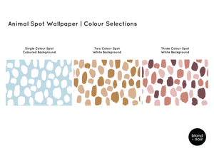 PRE-ORDER: Animal Spots | Removable Wallpaper | Full & Half Walls Wallpaper Blond + Noir