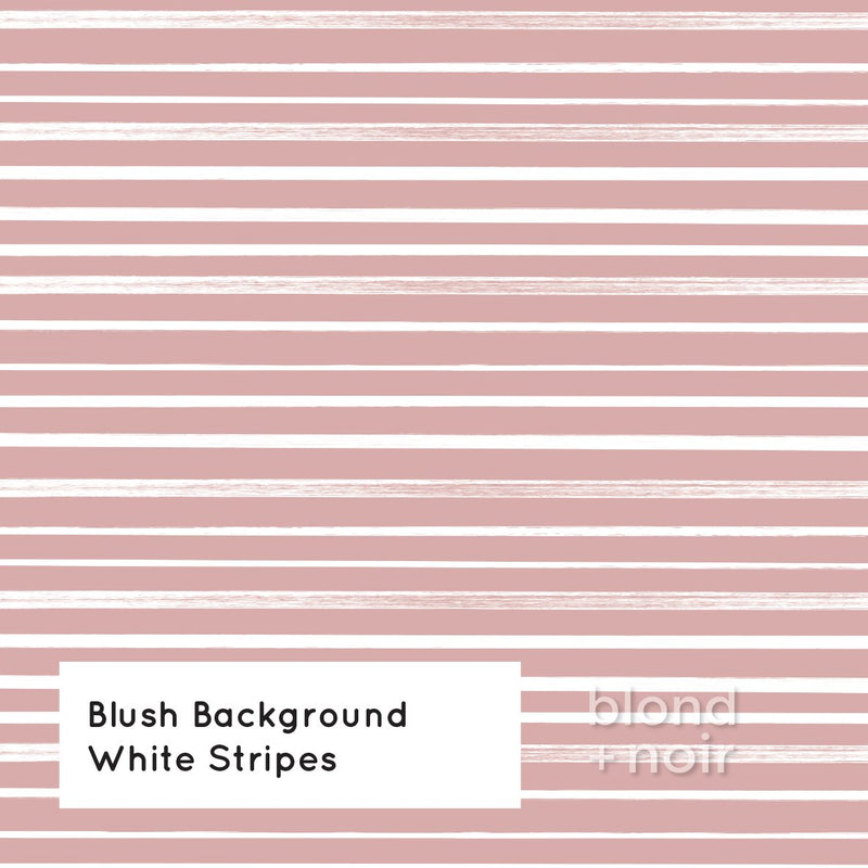 PRE-ORDER: Painted Horizontal Stripes | Removable Wallpaper | Full & Half Walls Wallpaper Blond + Noir