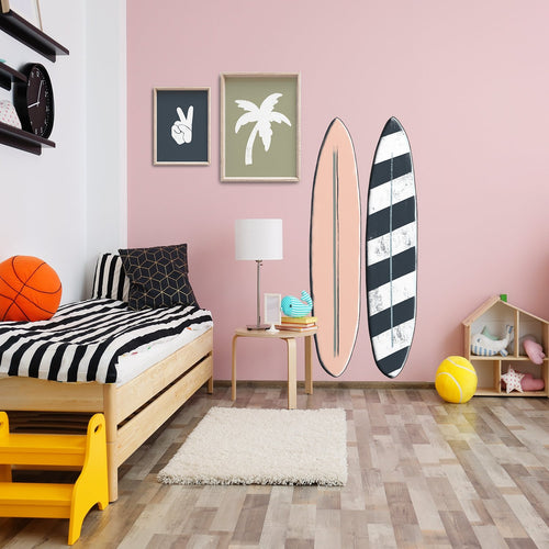 Retro Surfboards | Removable Fabric Wall Decals Wall Decals Blond + Noir