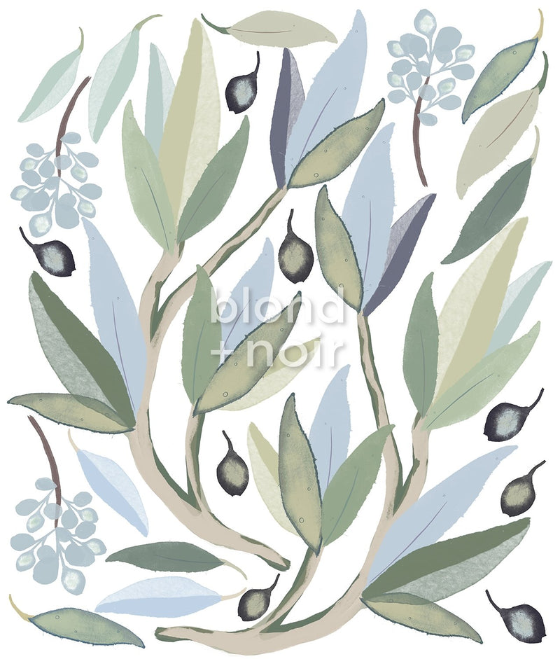 Snowy River Gum Leaves | Removable Fabric Wall Decals Wall Decals Blond + Noir