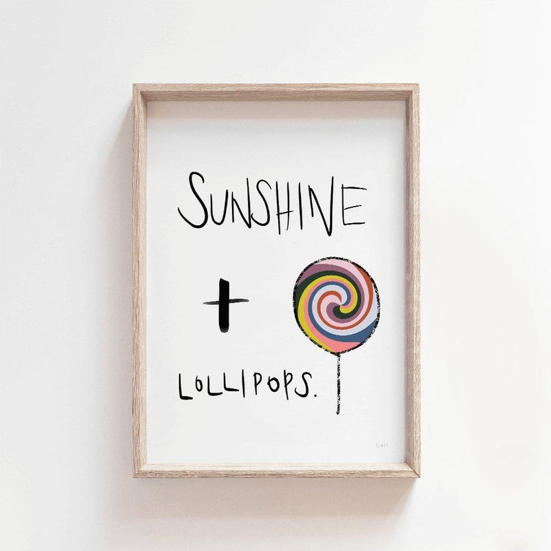 Sunshine Lollipop | Modern Kids Art Print Art Prints Blond + Noir