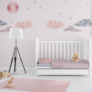 Sweet Dreams | Removable Fabric Wall Decals Wall Decals Blond + Noir