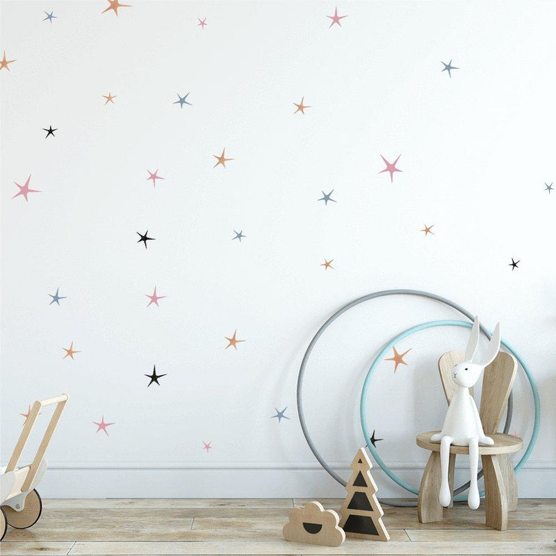 Sweet Stars | Removable Fabric Wall Decals Wall Decals Blond + Noir