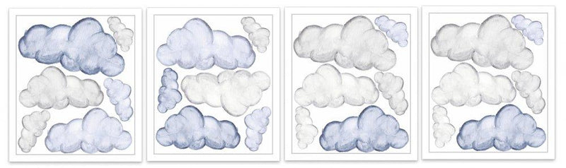 Watercolour Clouds | Removable Fabric Wall Decals Wall Decals Blond + Noir