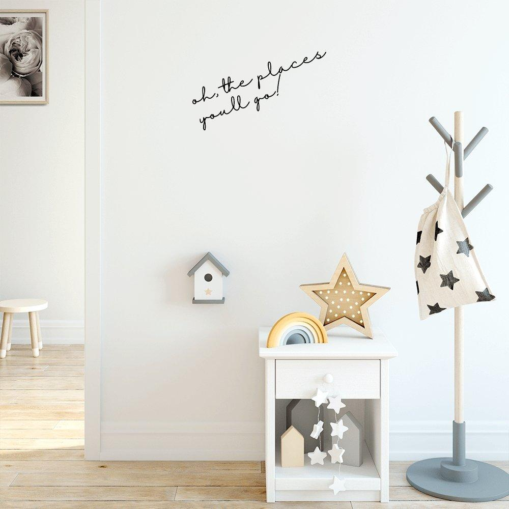 Words for the Wall: Custom Name or Quote | Removable Fabric Wall Decals Wall Decals Blond + Noir