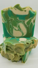 Load image into Gallery viewer, Shea butter Soap.  Green Apple orchard handmade cp soap