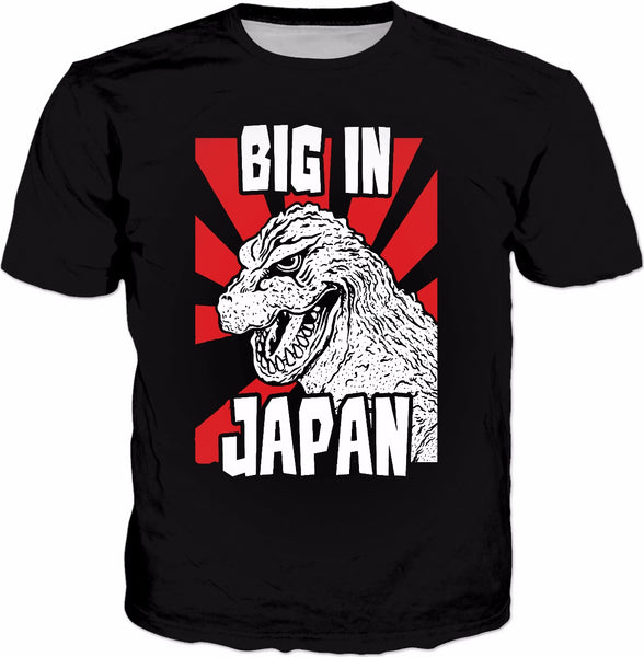 Big In Japan T-Shirt - Funny Kaiju Monster Japanese - KAG Aesthetics