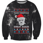 Donald Trump Christmas Sweater - Make Christmas Great Again (Grunge) - KAG Aesthetics