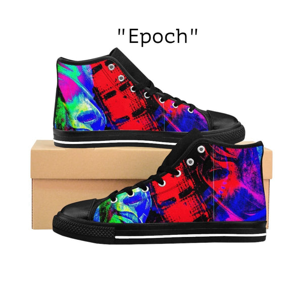 """Epoch"" Men's High-top Sneakers - KAG Aesthetics"