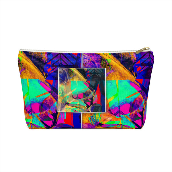 """Epoch"" Pattern Accessory & Makeup Bag w T-bottom - KAG Aesthetics"