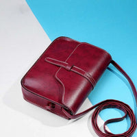 Women's Leather Vintage Messenger Bag - KAG Aesthetics