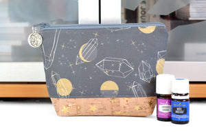 Moon & Gemstone Mini Essential Oil Bag