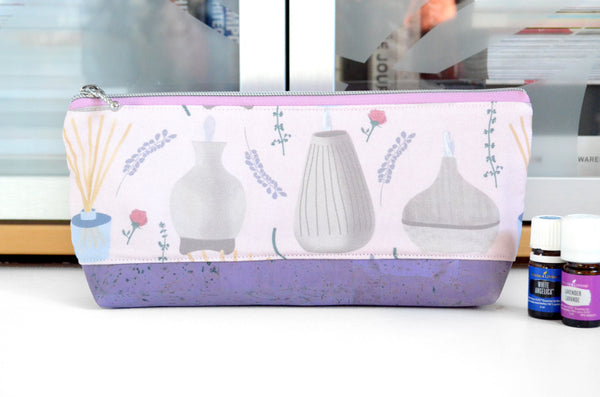 Purple Diffusers Essential Oil Bag