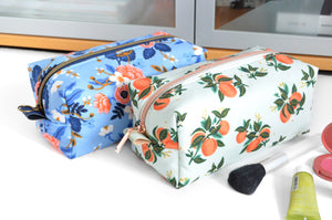 Rifle Paper Co Les Fleur & Citrus Boxy Toiletry Bag
