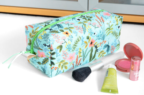 Blue Amalfi Rifle Paper Co Toiletry Bag
