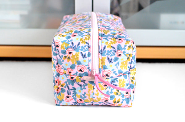 Pink & Gold Rosa Rifle Paper Co Toiletry Bag