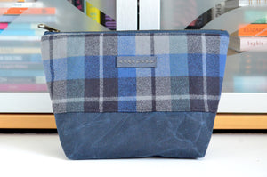 Royal Blue Waxed Canvas Pouch