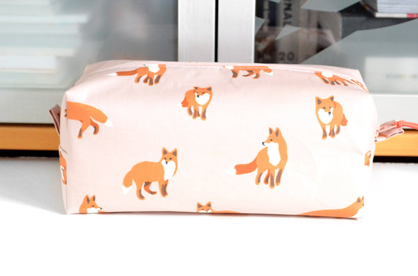 Pink Fox Laminated Toiletry Bag