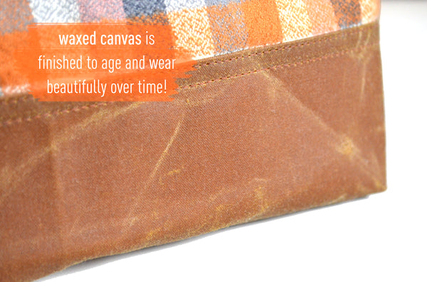 Pumpkin Waxed Canvas Pouch