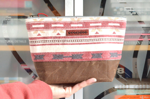 Red Taos Waxed Canvas Pouch