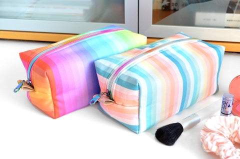 Rainbow Stripe Boxy Toiletry Bag