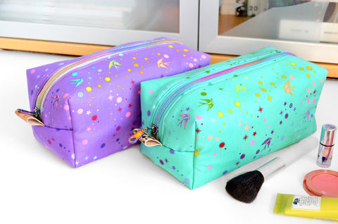 Rainbow Fairy Dust Boxy Toiletry Bag