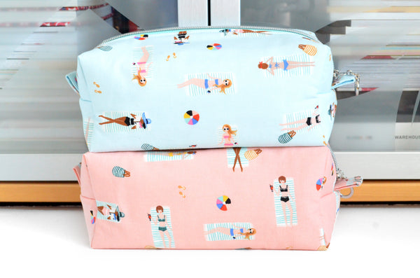 Rifle Paper Co Beach Girls Boxy Toiletry Bag