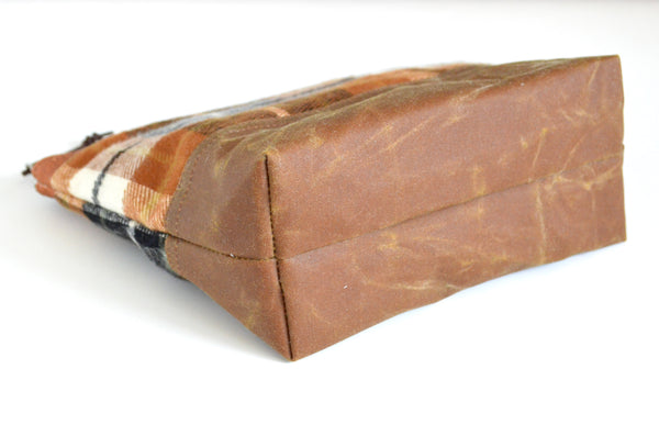 Orange Durango Waxed Canvas Pouch