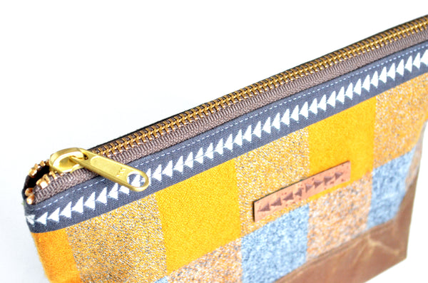 Gold Waxed Canvas Pouch